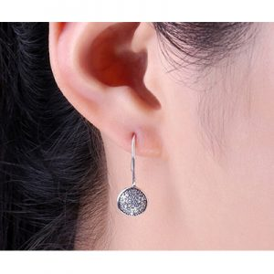 Sterling Silver Shimmering Droplet Stud Earrings